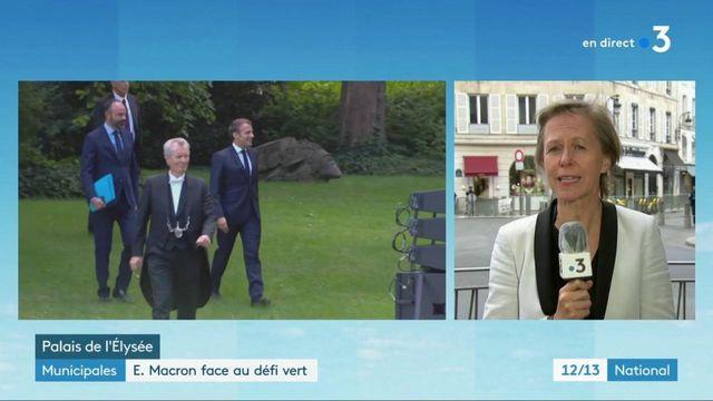 Municipales : Emmanuel Macron face au défi vert