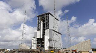 Le chantier de la zone de lancement d'Ariane 6 au Centre spatial européen de Kourou (Guyane), le 5 mars 2020. (JODY AMIET / AFP)