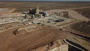 Mine de sable d'Eldorado, au Texas. (FRANCE 2)