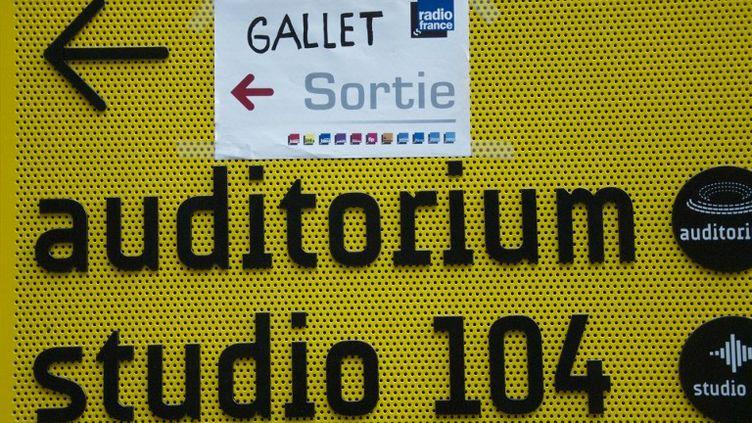 Dans les locaux parisiens de Radio France, en grève, le 8 avril 2015. (PATRICE PIERROT / CITIZENSIDE / AFP)