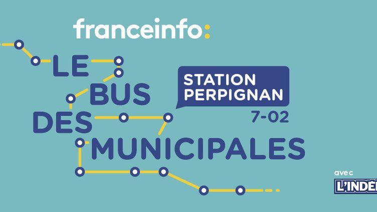 Le bus des municipales à Perpignan (FRANCEINFO)