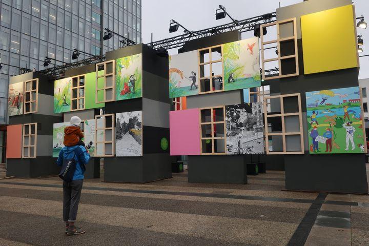 """Exposition """"La tête dans les images"""", Montreuil (Seine-Saint-Denis), le3 décembre2020 (Laurence Houot / franceinfo Culture)"""
