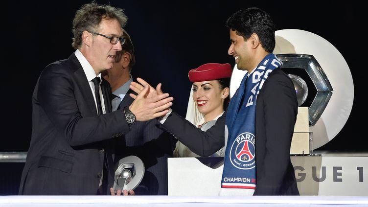Laurent Blanc, n'est désormais plus l'entraîneur du PSG. (FRANCK FIFE / AFP)