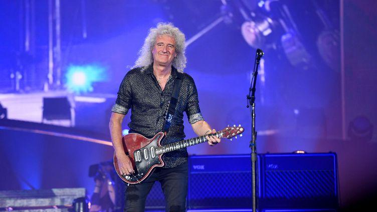 Brian May en concert à Central Park, à New York, le 28 septembre 2019 (NOAM GALAI / GETTY IMAGES NORTH AMERICA / AFP)