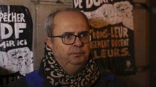 Bruno Morel, le directeur général d'Emmaüs Solidarité, le 6 décembre 2017 à Paris. (JACQUES DEMARTHON / AFP)