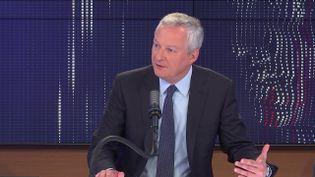 """Bruno Le Maire, ministre de l'Economie, des Finances et de la Relance était l'invité du """"8h30 franceinfo"""", mardi 13 juillet 2021. (FRANCEINFO / RADIOFRANCE)"""
