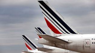 Des avions Air France à l'aéroport Roissy-Charles-de-Gaulle, le 25 novembre 2020. (THOMAS COEX / AFP)