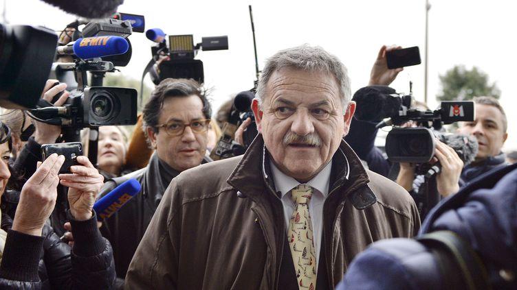 L'ex-maire de La-Faute-sur-Mer (Vendée),René Marratier, le 12 décembre 2014 auxSables-d'Olonne pour le verdict de du procès de la tempête Xynthia. (GEORGES GOBET / AFP)