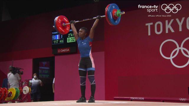 Dora Meiriama Tchakounté échoue au pied du podium pour un petit kilo (213kg total) malgré une superbe prestation à l'arraché (96kg) et à l'épaulé-jeté (117kg). La Taïwanaise Hsing-Chun Kuo a survolé la compétition avec un total incroyable de 236 kg !