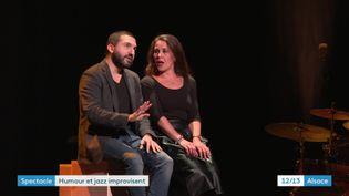 Ibrahim Maalouf et Antonia de Rendinger sur scène à Strasbourg, le 9 janvier 2020 (France 3 Alsace / P. Dezempte)