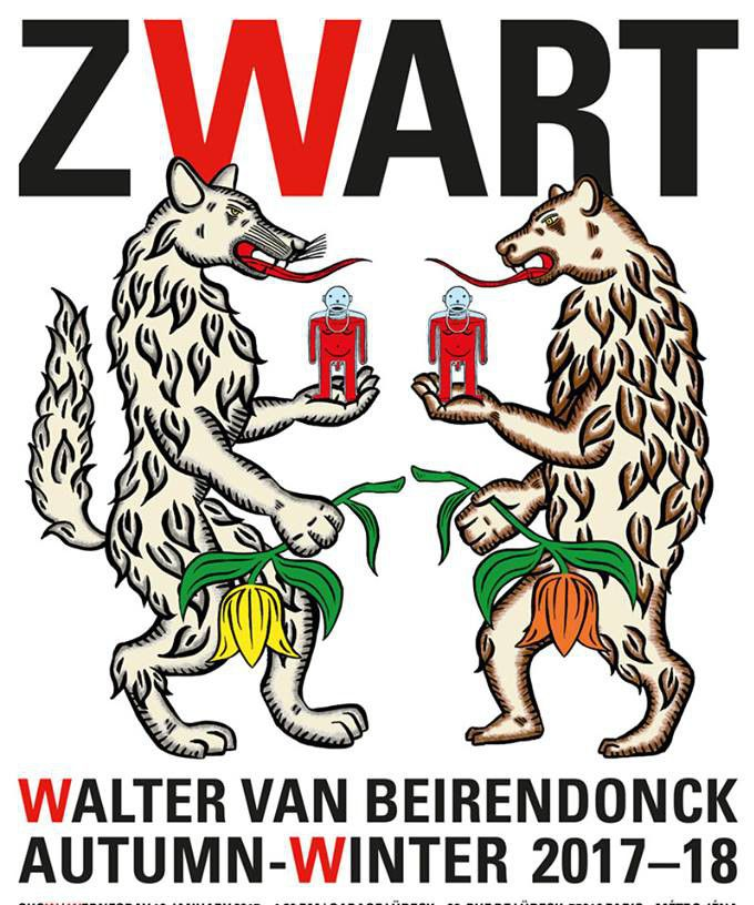 Invitation au défilé Walter Van Beirendonck ah 2017-18  (Walter Van Beirendonck)