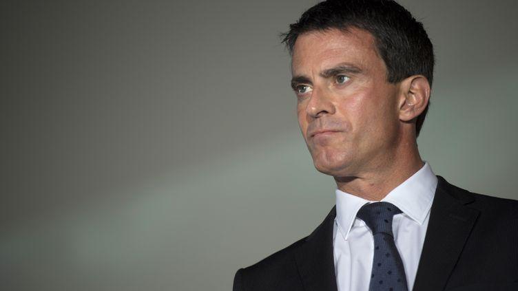 Le Premier ministre Manuel Valls, à Meaux (Seine-et-Marne), le 12 septembre 2014. (MARTIN BUREAU / AFP)