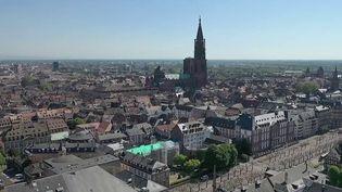 Plus de peur que de mal pour les habitants de l'agglomération de Strasbourg (Bas-Rhin) réveillés, samedi 26 juin, par un tremblement de terre. En décembre, la région était déjà touchée par une série de séismes probablement liée à un projet de forage. (CAPTURE ECRAN FRANCE 2)