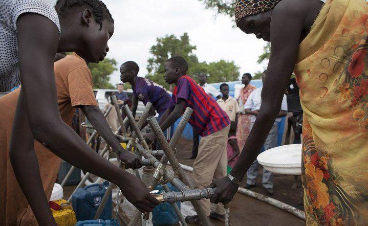 Réfugiés sud-soudanais à Gambella (sud de l'Ethiopie) le 10 juillet 2014 (AFP - ZACHARIAS ABUBEKER)