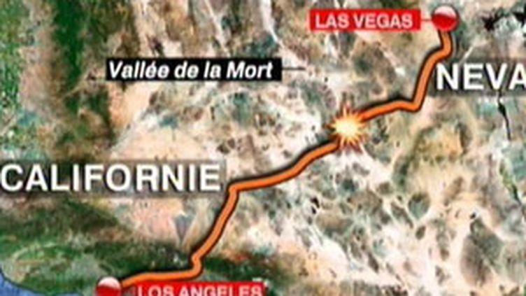Le lieu de l'accident du bus qui a vu la mort de deux adolescentes françaises aux USA, le 22 juillet 2009 (© France 2)