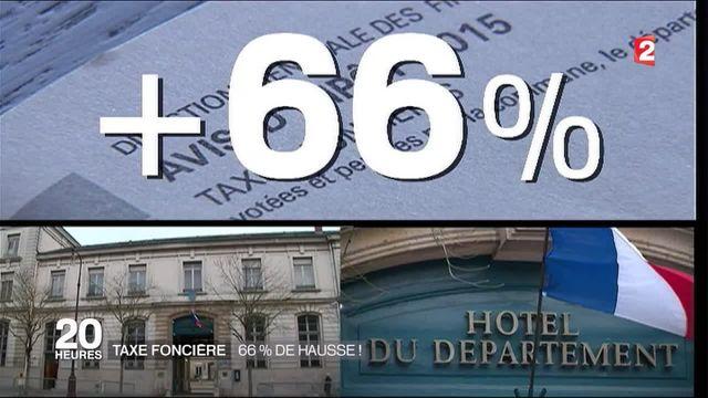 Taxe foncière : 66 % de hausse !