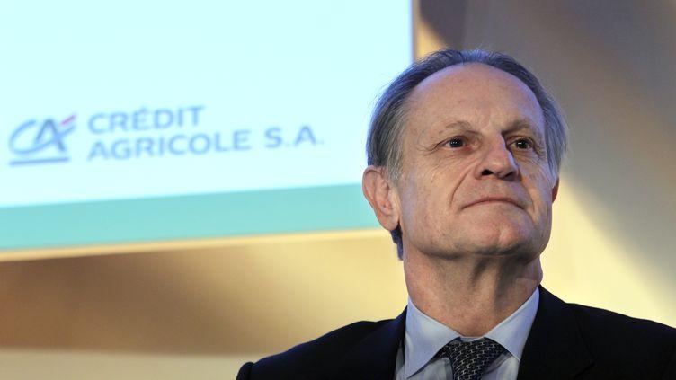 Jean-Paul Chifflet, le PDG du Crédit Agricole, le 24 février 2011 à Paris. (FRANCOIS GUILLOT / AFP)