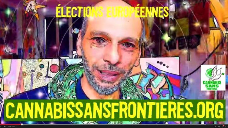Capture d'écran du clip de campagne du collectif Cannabis sans frontières, diffusé en vue des élections européennes du 25 mai 2014. (CANNABIS SANS FRONTIERES / YOUTUBE)