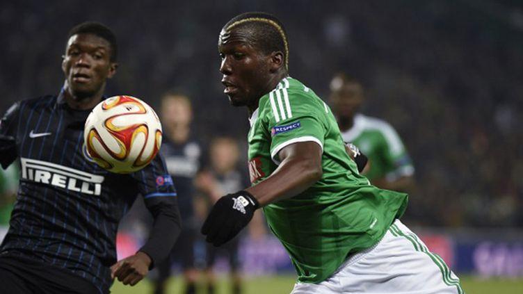 Florentin Pogba (St-Etienne) face à l'Inter Milan (PHILIPPE DESMAZES / AFP)