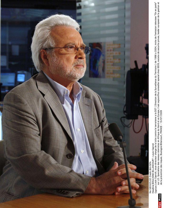Louis Caprioli, le 15 juillet 2009, sur le plateau de LCI. (IBO / SIPA)