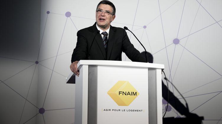 Jean-Marc Torrollion, lors du congrès de la FNAIM le 12 décembre 2017. (VINCENT ISORE / MAXPPP)