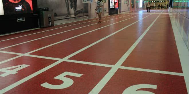 La station de métro menant au stade olympique repeinte pour les Mondiaux d'athlétisme
