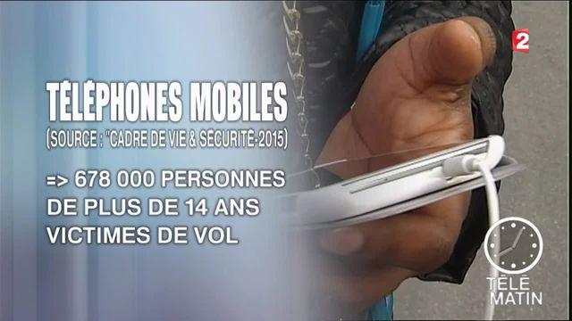 Les vols de portables en baisse en 2014