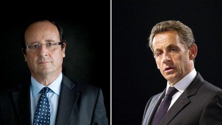 François Hollande (à gauche), Nicolas Sarkozy (MARTIN BUREAU / AFP)