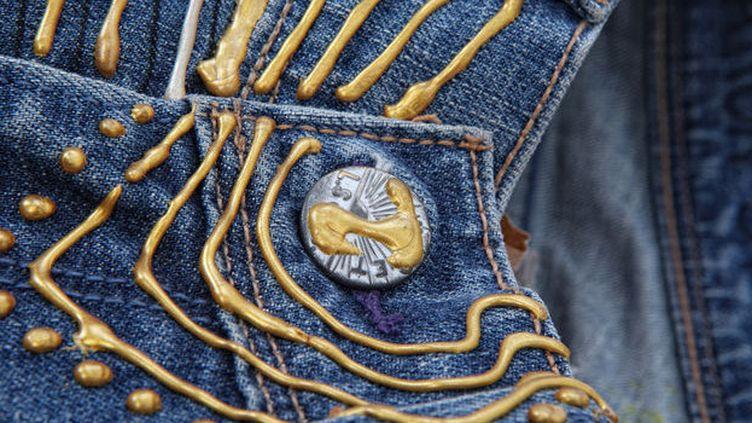 Détail du jean de Sharon Stone  (Catawiki)