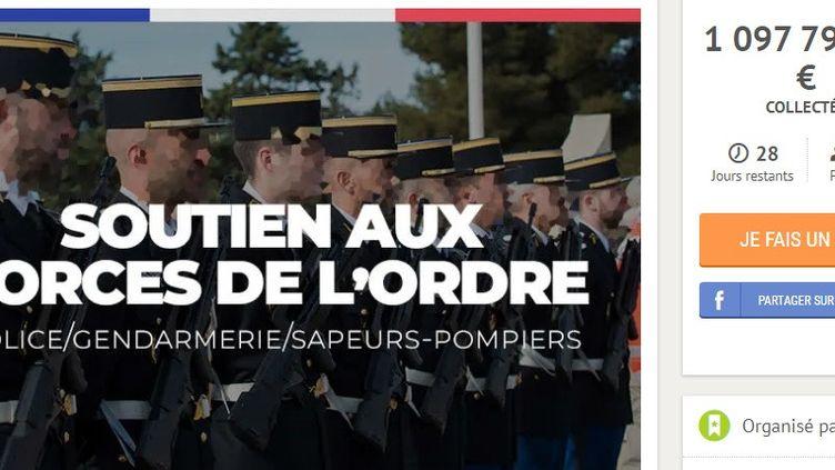 """La cagnotte Leetchipour soutenir les membres des forces de l'ordre blessés pendant les manifestations des """"gilets jaunes"""" a dépassé le million d'euros, le 10 janvier 2019. (LEETCHI)"""