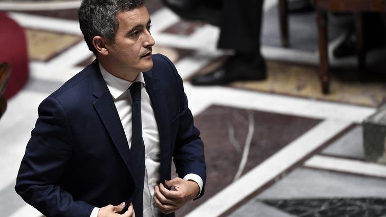 Le ministre de l'Intérieur Gérald Darmanin à l'Assemblée nationale, le 28 juillet 2020. (STEPHANE DE SAKUTIN / AFP)