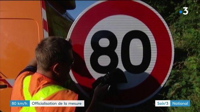 Routes à 80 km/h : la mesure officiellement en vigueur le 1er juillet