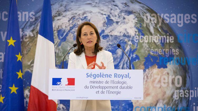 (Ségolène Royal a tenu une conférence de presse à une semaine du début de la COP21 à Paris © MaxPPP)
