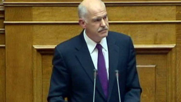 Le premier ministre grec Papandréou (France 2)