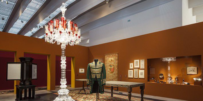 """Costume de Qajar exposés au Musée Louvre-Lens dans le cadre de l'exposition """"L'Empire des roses""""  (Louvre-Lens)"""