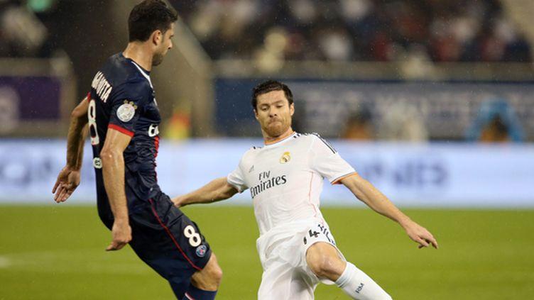 Thiago Motta (PSG) face à Xabi Alonso (Real Madrid) (ALI HAIDER / MAXPPP)