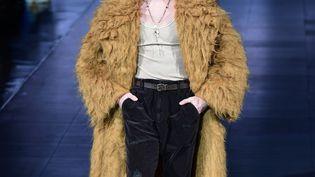 Dolce & Gabbana joue avec la figure du berger pour les défiles automne/hiver 2020/21 à Milan, le 11 janvier 2020. (MIGUEL MEDINA / AFP)