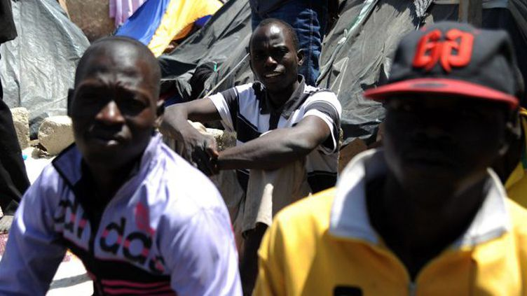 Migrants nigériens en attente de leur explusion (Boufarik, 2014) (FAROUK BATICHE / AFP)