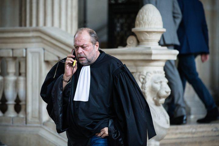 Eric Dupond-Moretti, le 18 octobre 2017, au tribunal de grande instance de Paris. (MAXPPP)