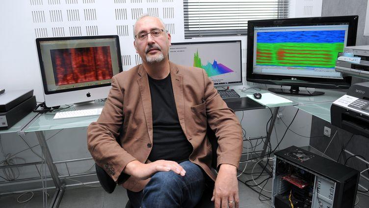 Norbert Pheulpin, le PDG du laboratoire Lipsadon, le 14 octobre 2013 à Laudun-L'Ardoise (Gard). (SYLVAIN THOMAS / AFP)