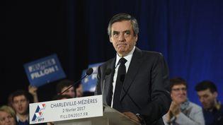 François Fillon, lors de son meeting à Charleville-Mézières, le 3 février 2017. (REMI WAFFLART / MAXPPP)