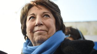 Corinne Lepage, présidente du Rassemblement citoyen, le 10 février 2017. (GUILLAUME SOUVANT / AFP)