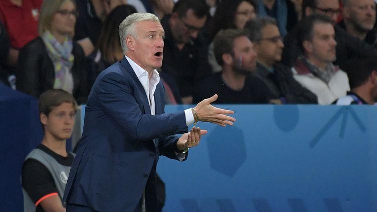 Le sélectionneur des Bleus, Didier Deschamps, le 19 juin 2016, à Lille (Nord). (GRIGORIY SISOEV / SPUTNIK / AFP)