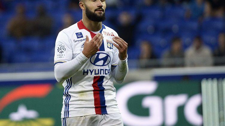 Le joueur de l'OL, Nabil Fékir, lors du match contre Montpellier (STEPHANE GUIOCHON / MAXPPP)