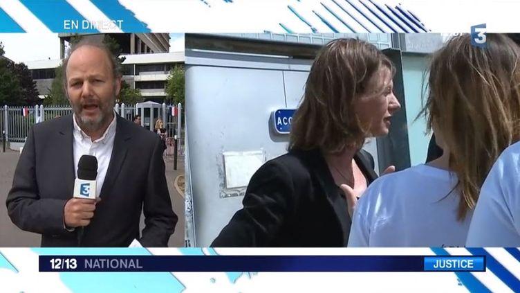 L'agresseur de la députée Laurianne Rossi au tribunal (FRANCE 3)