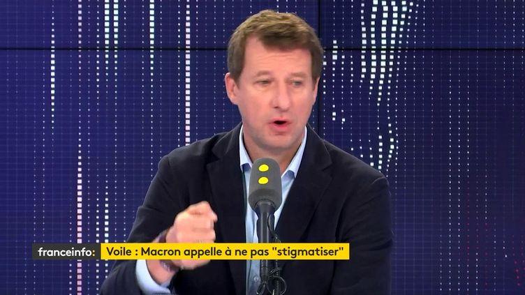 Yannick Jadot, sur franceinfo, jeudi 17 octobre. (FRANCEINFO / RADIOFRANCE)