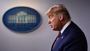 Donald Trump, lors de son allocution à la Maison-Blanche (Etats-Unis), le 5 novembre 2020. (BRENDAN SMIALOWSKI / AFP)