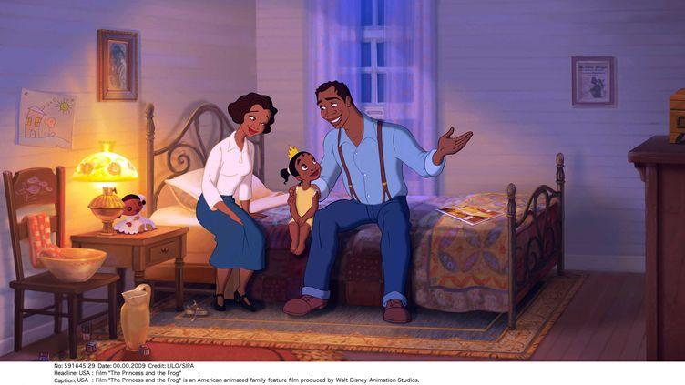 """Image extraite du dessin animé, """"La Princesse et la grenouille"""", produit par les studios Disney et sorti en 2009. (LILO/SIPA)"""
