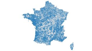 """L'Insee a publié, le 31 décembre 2015, les """"populations légales"""" de chaque commune au 1er janvier 2013. (CARTODB / FRANCETV INFO)"""