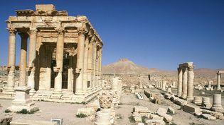 Le temple de Bel sur le site archéologique de Palmyre avant qu'il soit détruit par les jihadistes del'Etat islamique,en avril 1994. (LUGINBUHL / SIPA)
